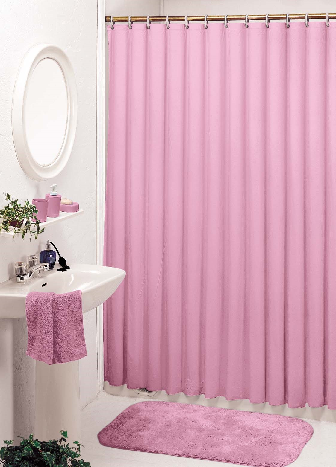 World houseware producing company limited for Plain pink shower curtain